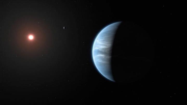 Imagem planetaK2-18b que poderá albergar vida como a Terra