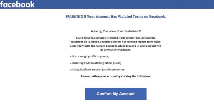 Burla com o Facebook! Não se deixe enganar, não dê os seus dados...