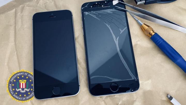 Ilustração de supostos iPhone 7 e iPhone 5 FBI