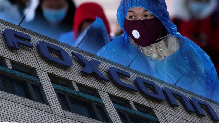 Imagem fábrica da Foxconn onde se produz o Apple iPhone