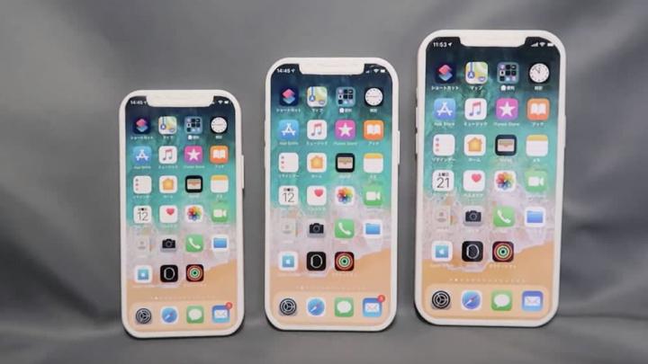 Imagem de modelos do novo iPhone da Apple para 2020