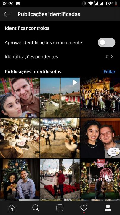 Ocultar fotos identificadas instagram