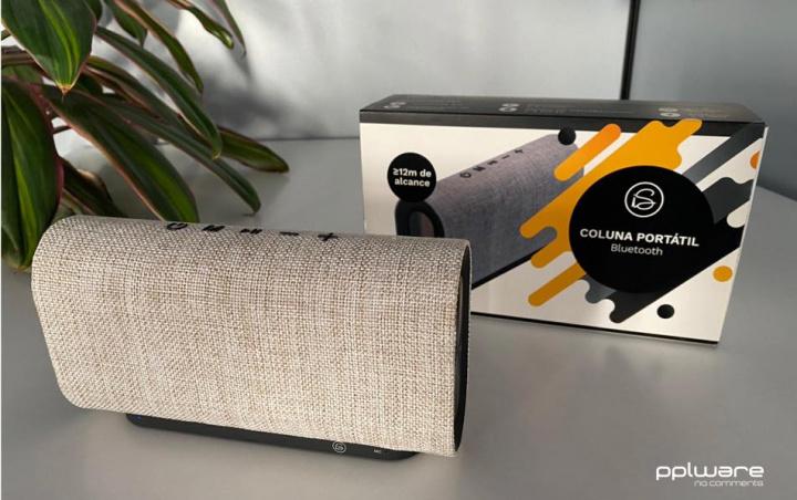 Coluna Portátil Bluetooth iServices: Som surpreendente e design elegante