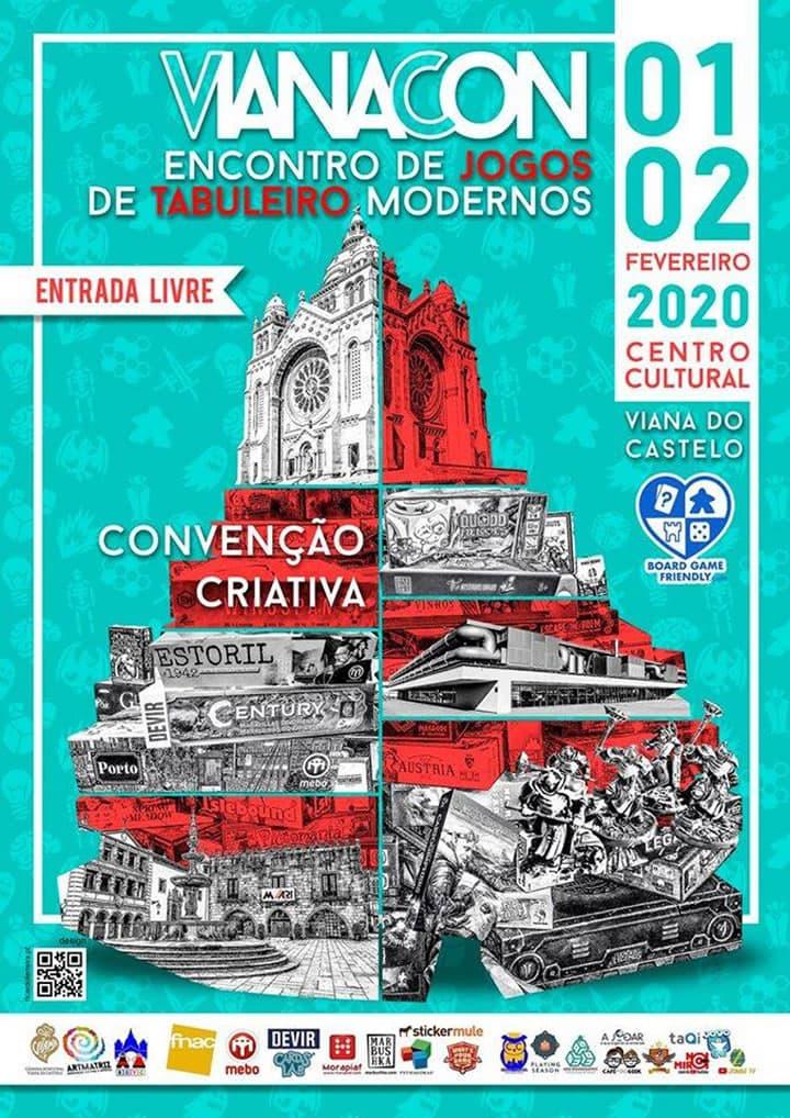 Cartaz evento de jogos de tabuleiro em Viana do CAstelo