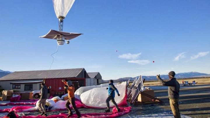 Imagem balões que distribuem internet