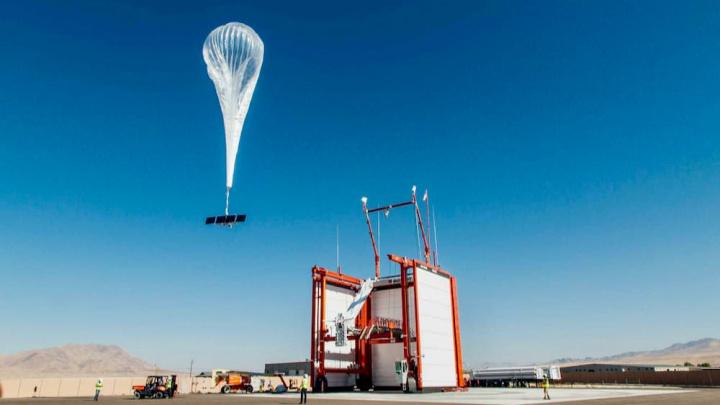 Imagem Google Projecto Loon, balões que distribuem internet