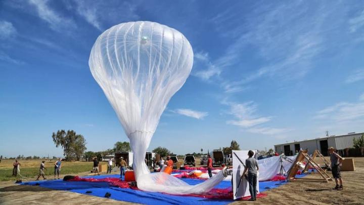 Imagem balões do Google Projecto Loon