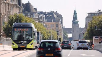Imagem ilustração transportes públicos gratuitos no Luxemburgo