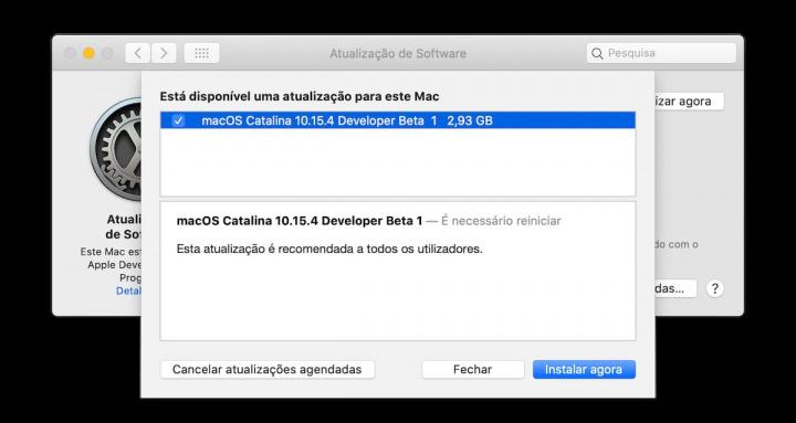 Imagem do Apple macOS beta com referências a processadores AMD