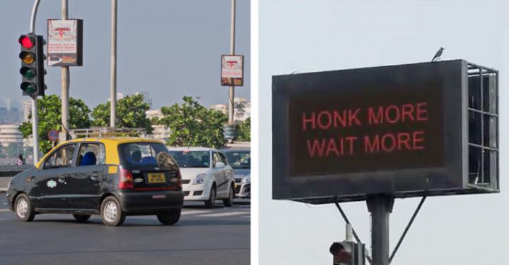 Semáforos ficam vermelho quando os condutores apitam