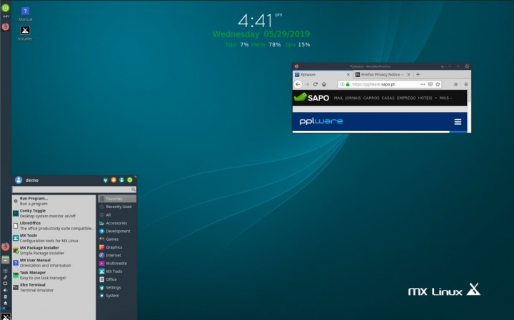 MX Linux 19.1 - The most popular Linux distribution at the moment