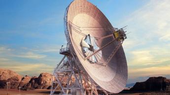 Imagem antena Laser usada pela NASA para comunicar da Terra até Marte