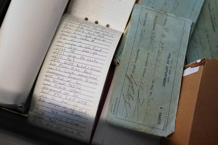 Exemplos de blocos de notas da polícia