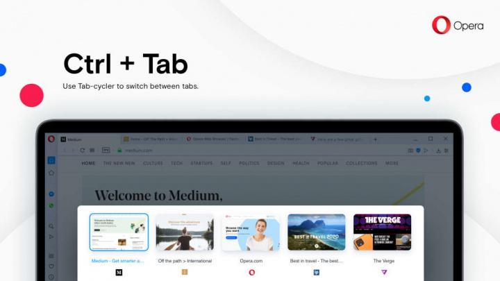 Opera WorkSpaces Sidebar browser novidades