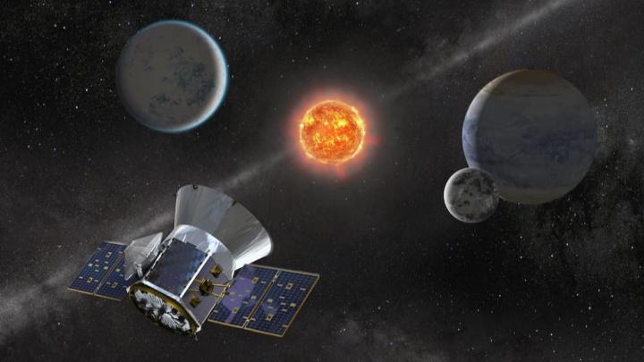 Ilustração Telescópios e exoplanetas