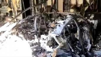 Imagem Porsche Taycan que explodiu