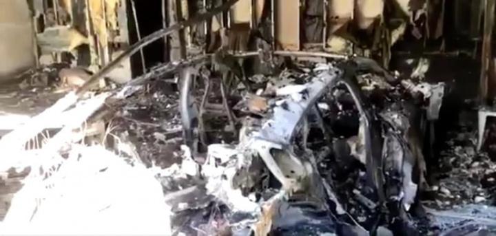Imagem carro elétrico que explodiu