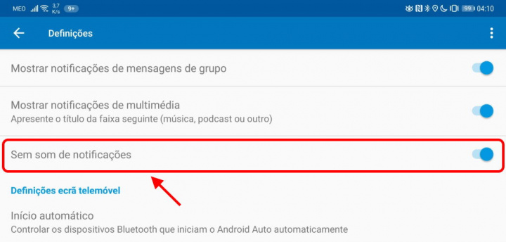 Android Auto Google notificações mensagens