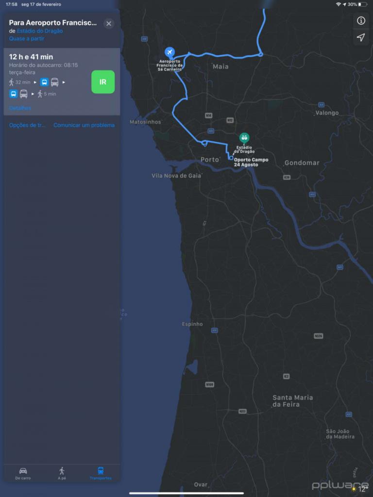 Apple Mapas trânsito transportes Google Maps