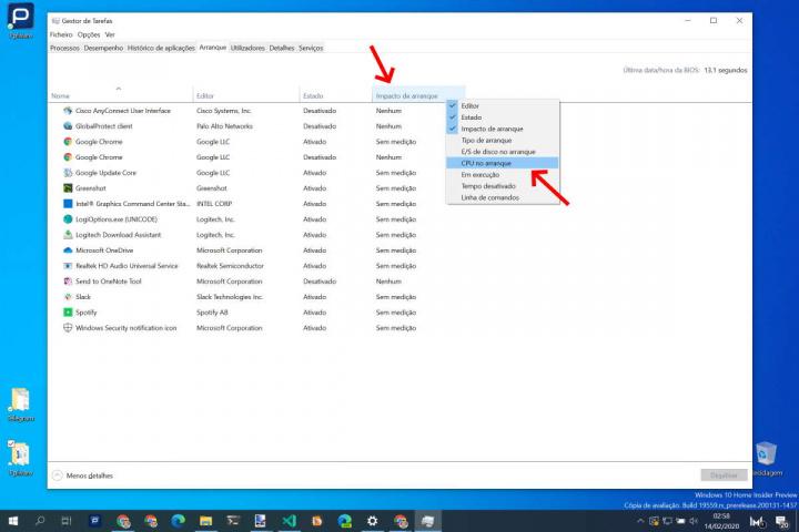 Windows 10 arranque tempo apps Microsoft