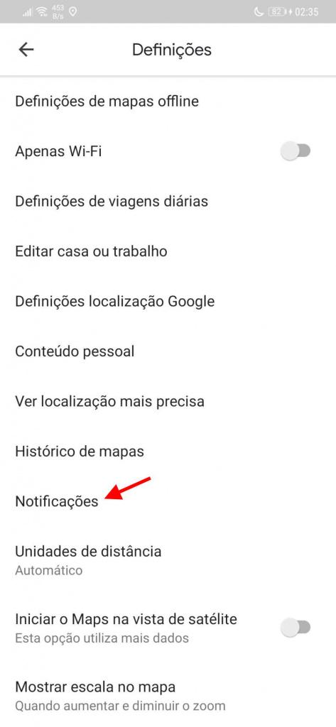 Google Maps avaliação Android alertas