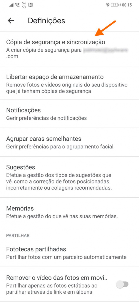 Google Photos images folder backup