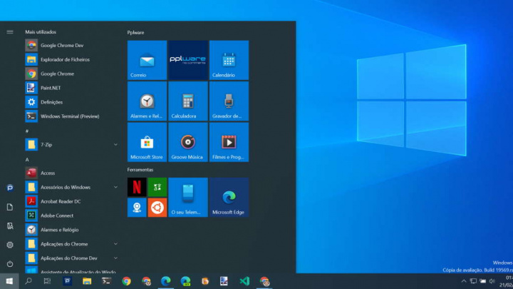 ícones Windows 10 Microsoft gráfica apps