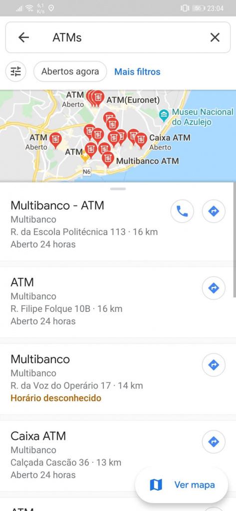 Google Maps multibanco mapas encontrar