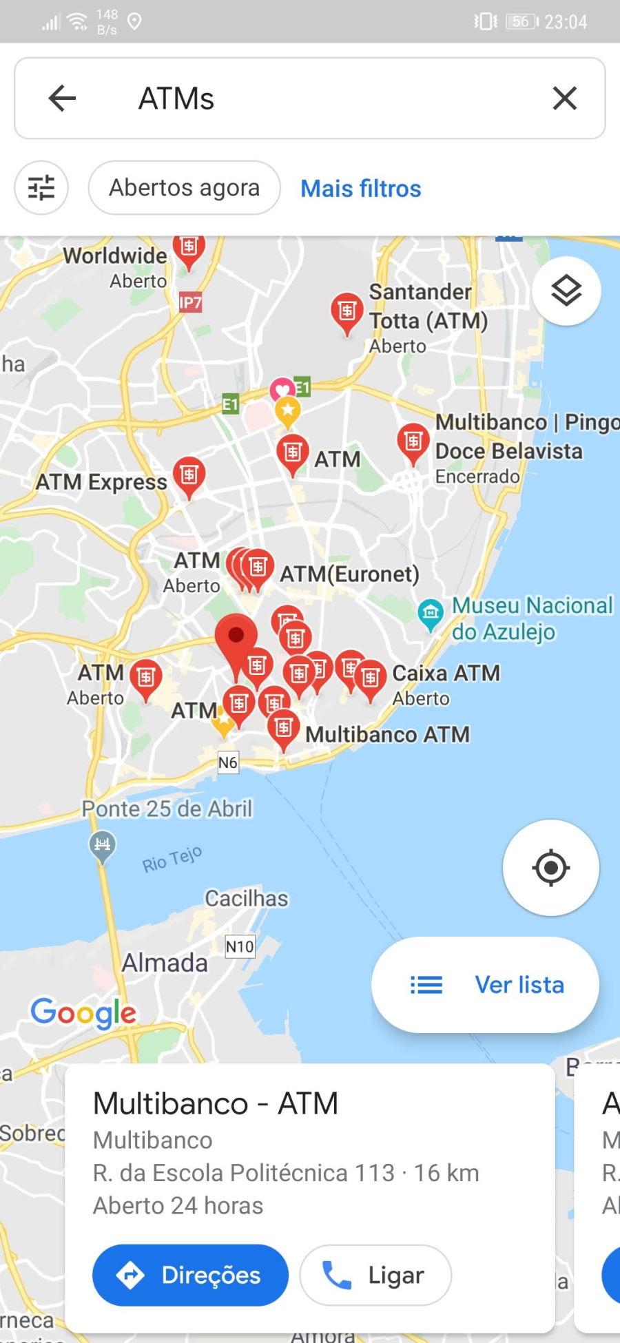 Qual O Multibanco Mais Perto De Si O Google Maps Ajuda O A Encontrar