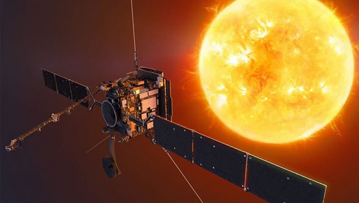 Imagem Sol e satélite