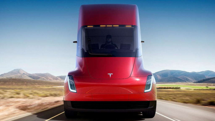 Tesla Semi camião trânsito veículos