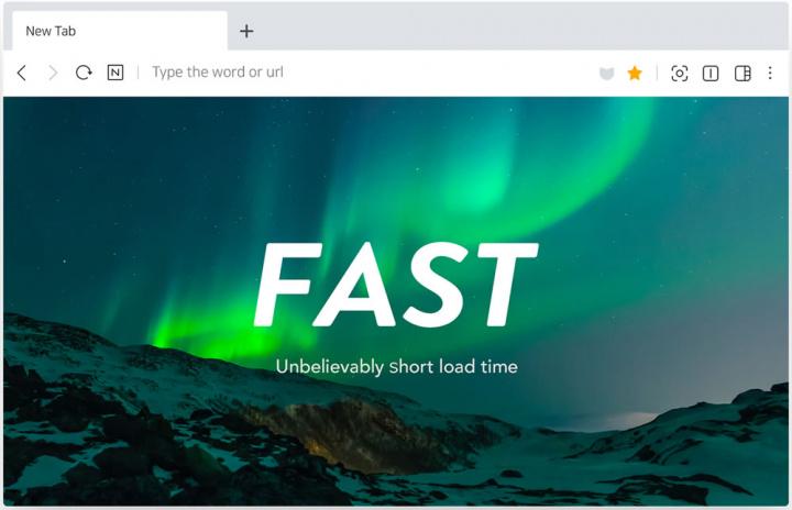 Imagem novo browser que vem no Linux da Coreia do Sul