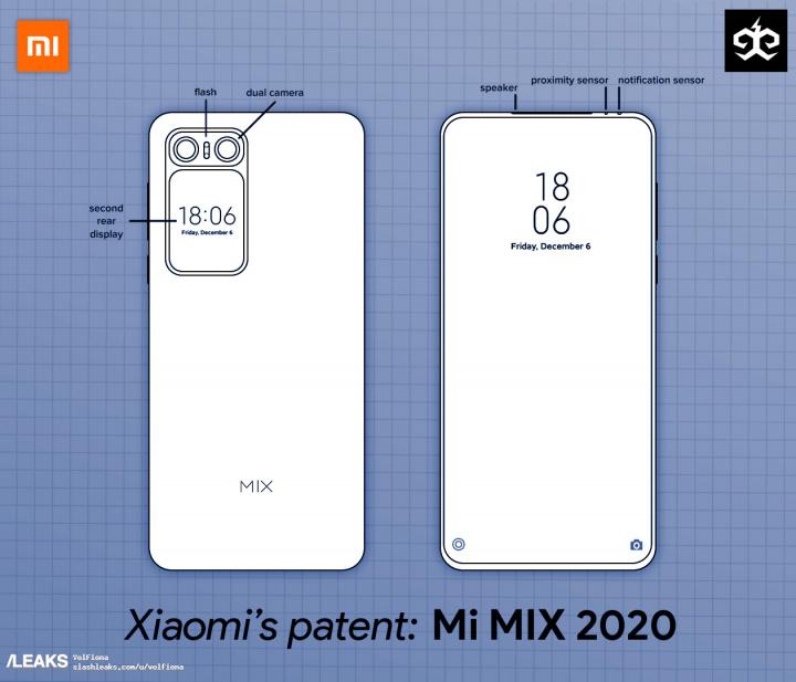 xiaomi mi mix 2020 patente
