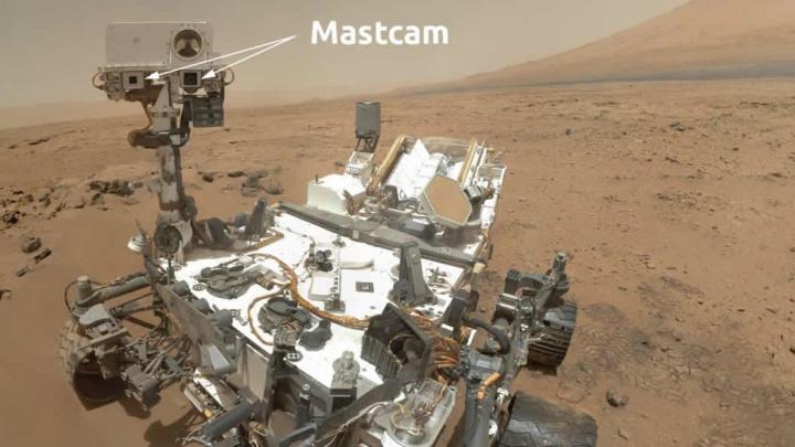 Imagem Mastcam do rover Curiosity da NASA que está em Marte
