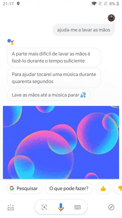 Google Assistant Lavar as maos (2)