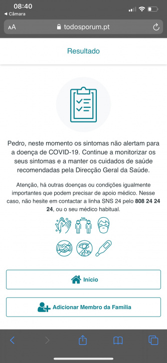 COVID-19: Do you have symptoms? Install this app for doctors to help you