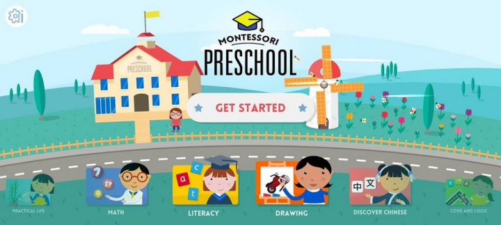 Montessori Preschool- Jardim de infância - 5 Apps Android didáticas para ocupar as crianças em dias de isolamento