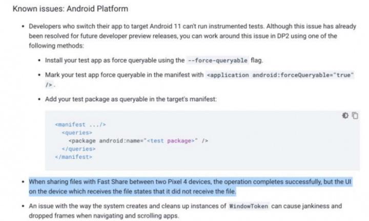 Android 11 partilha ficheiros AirDrop Google