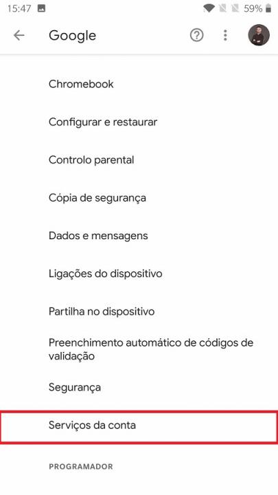 aplicações conectadas conta google (3)