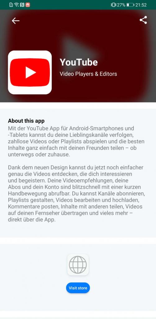 Huawei App Search apps AppGallery aplicação