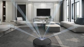 Imagem robô aspirador que mostra interior das casas