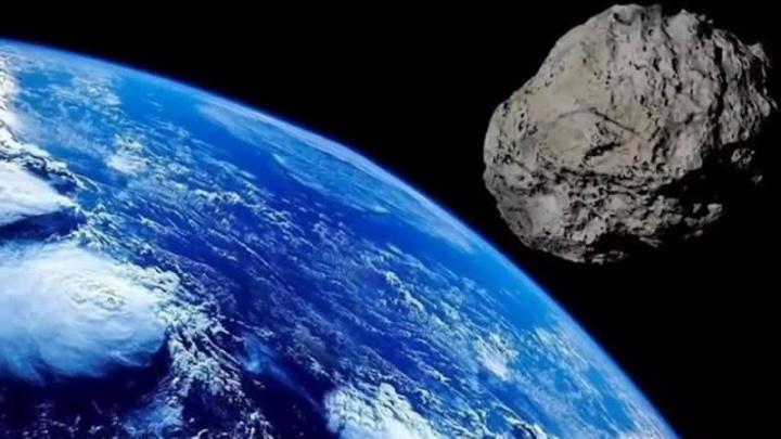 Imagem ilustração de asteroide que passará pelo planeta Terra em abril