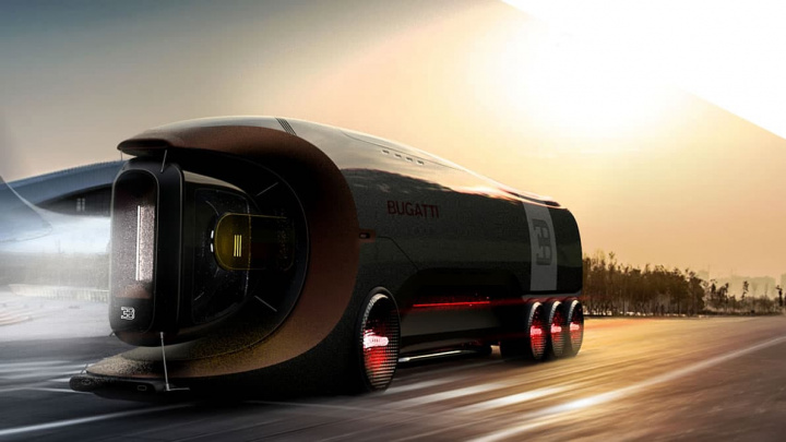 Bugatti electric truck concept image that will confront the Tesla Semi