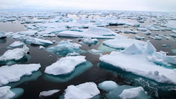 Imagem resultado no Artico do buraco do ozono
