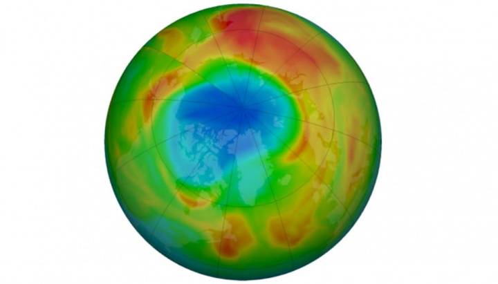 Imagem tamanho do buraco do ozono