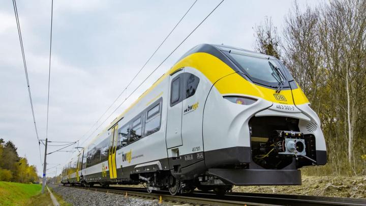 Imagem comboios elétricos Siemens para a Alemanha