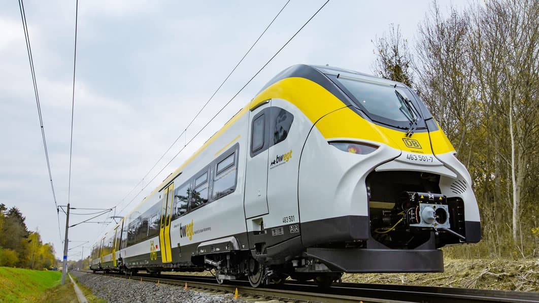 Siemens has an order for 20 fully electric battery-powered trains