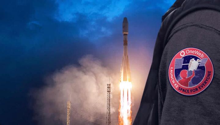 Imagem do lançamento dos satélites OneWeb para o Espaço. Empresa está na falência por causa do Coronavírus