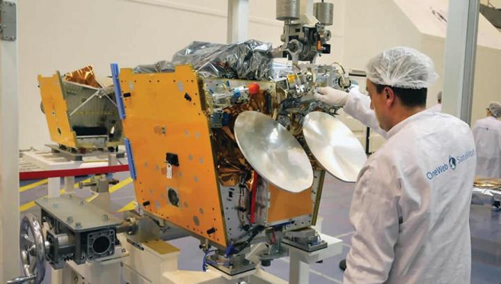 Imagem dos satélites OneWeb para enviar para o Espaço