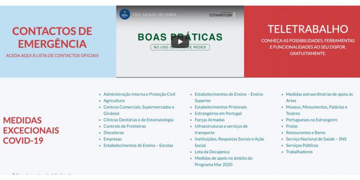 COVID-19: Governo lança novo site com informações e guias